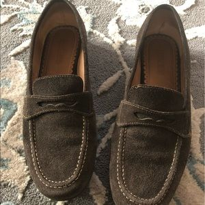 Lands end brown suede loafers size 7B